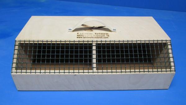 Transportkiste für Wellensittiche und Exoten 2 Fächer